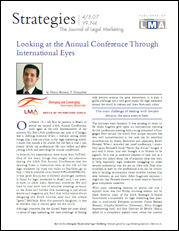 Looking at the annual conference through international eyes