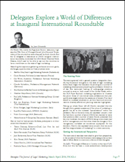 Delegates explore a world of differences at inaugural international roundtable