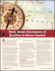 Study shows ascendancy of Brazilian in-house counsel